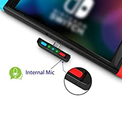 [Perfect Match] A Bluetooth transmitter tailor-made exclusively for the Nintendo Switch Family of portable game consoles. Compatible with both regular Switch and Switch Lite, with two Buttons in color Neon Red & Neon Blue respectively. Note: This pro...