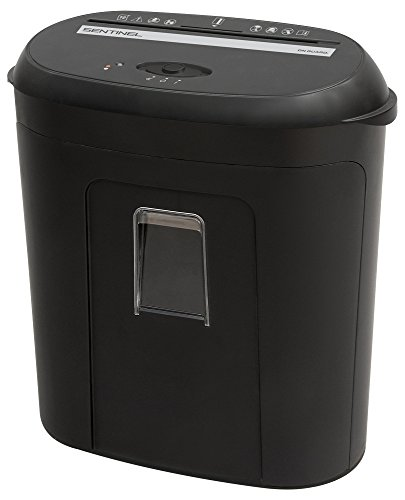 Sentinel FM100P On Guard 10 Sheet High Security Microcut Paper/Credit Card Shredder with 3.04 Gallon Pullout Waste Bin Shredder