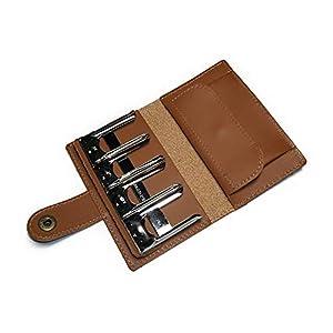 【日本製】 本革 コインキャッチャー 小銭入れ コインケース メンズ レディース レザー コインホルダー カード 財布 (キャメル)