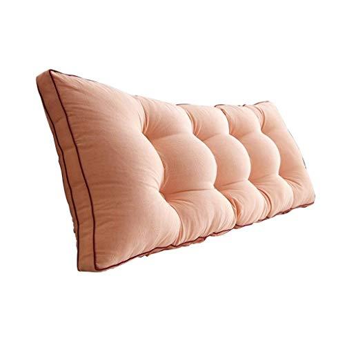 ZHAS Bettrücken, weiche Bettkissen für die Bettkante, Kissen für das Doppelbett, waschbar, herausnehmbar, 3 Farben, 6 Größen (Farbe: A, Größe: 150 cm)