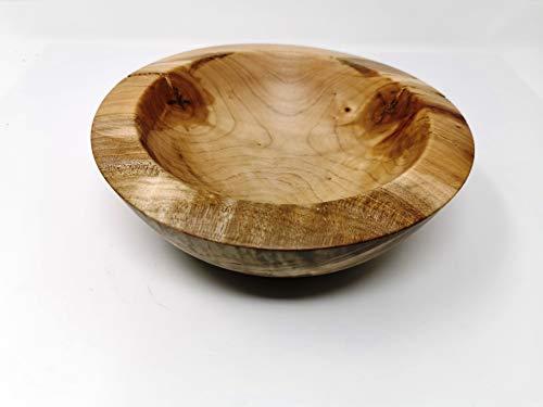 Holzschale rund aus Ahorn Holz ∅ ca. 23 cm - H: ca. 7 cm handgemacht gedrechselt Schale Obstschale