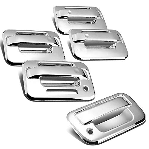 S SIZVER Combo Chrome 8pcs Door Handle+Tailgate Covers Compatible with Ford...