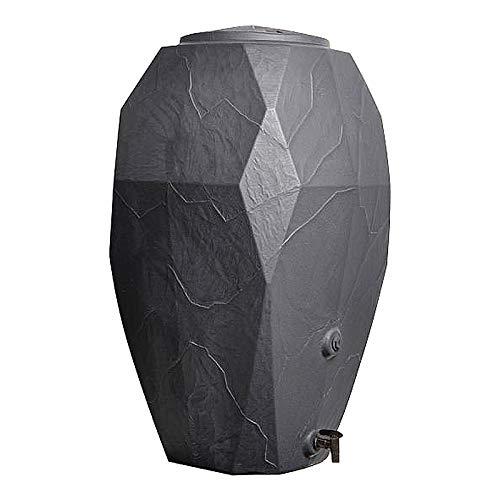 Regentonne CANYON Steinoptik Grau 300 Liter ION300S Regenfass Wasserfass
