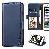 ZXLZKQ Funda para Nokia X10 (6.67'), Silicona Case + Cristal Templado 9H Dureza Protector de Pantalla HD, Soporte Plegable PU Cuero Flip Cover Carcasa Ranuras Caso - Blue