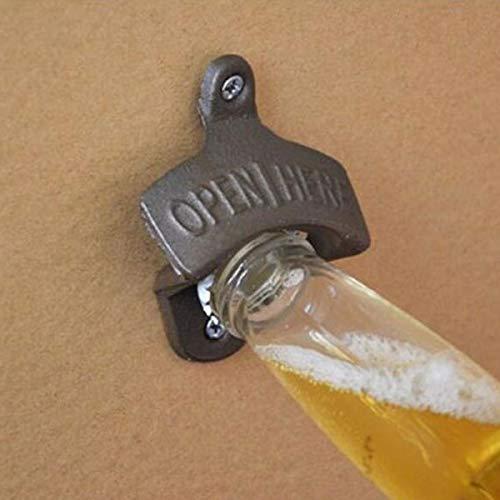Faway gietijzeren muur gemonteerde fles opener antieke bar club wijn bier opening tool donker brons