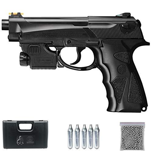 Ecommur TAC C31 láser [151 m/s] | Pistola de balines (Bolas BB's de Acero) y CO2 (Aire comprimido) crosman Tipo Beretta 92 Calibre 4.5mm