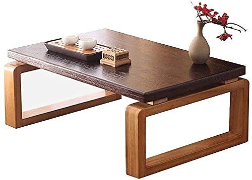 Tavoli Tavolo da tè Tavolo per uso domestico Bay Window Tavolo da tè Computer portatile Scrivania Pieghevole Tavolino da caffè Tavolo giapponese (Colore: Marrone Dimensioni: 704530cm) -Brown_60 * 40 *