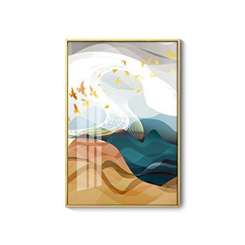 AXIANQI wandlamp luxe aluminiumlegering weergave woonkamer sofa achtergrond muur decoratie schilderij 30 * 40 cm 30 * 40cm C