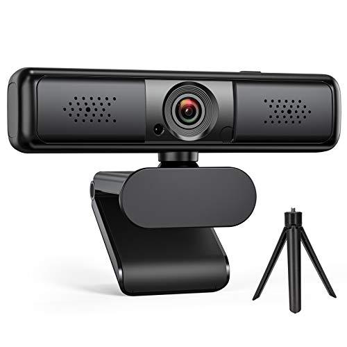 Webカメラ 2K QHD 400万画素 DEPSTECH 高画質ウェブカメラ プライバシーカバー&三脚付き 65°~100°視野角調整可能 デュアルマイク内蔵 自動調光補正 USB ウェブカム ストリーミング パソコンカメラ ビデオ会議/授業用 MAC OS, Windows XP/7/8/10, Youtube, Skype, Facebook, zoom, Facetimeなど対応可