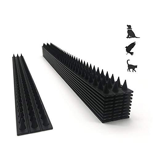 NN.ORANIE 鳥よけ とげ 害獣よけ 10個セット 50*4.5*2cm とげマット 猫よけ 鳥類駆除 カラスよけ 簡単設置 庭・ ベランダ・窓枠・屋上用