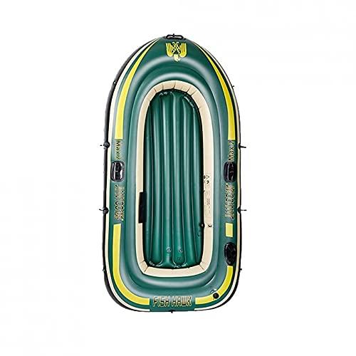 KUANDARMX Balsa Inflable Plegable para Bote De Kayak para 3 Personas, Adecuada para Pescar, Sentarse En Kayak, Soporte De Carga Resistente Al Desgarro 200 Kg, Style1
