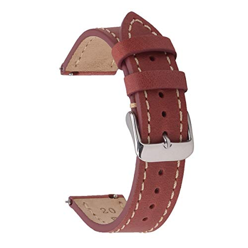 20mm Quick Release Leather Watch Straps,EACHE Genuine Leather Watch Straps for Men...