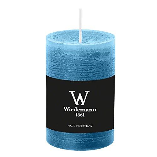 8 candele colorate (altezza x diametro) 90 x 58 mm, colore azzurro, con pellicola ASF per protezione antincendio, Wiedemann Marble candele, Avvento, corona dell'Avvento, Natale, decorazione, evento.