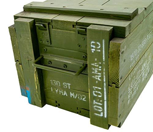 Kistenkolli Altes Land Dänische Munititionskiste Box M00 Holz-kiste-Truhe Schatzkiste Militärkiste - 7