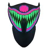 Weesey LED-Rave-Maske, Voice-Activated Musik Maske Terror Masken Soundaktiviert Leuchtmaske für...