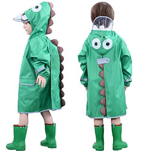 OldPAPA Chubasquero para Niños y Niñas, Impermeable Rain Capucha 3D Dinosaurio...