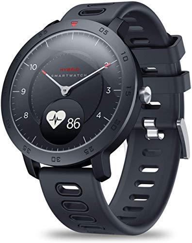 Reloj deportivo para hombre ultra largo de espera impermeable mecánico con monitor de ritmo cardíaco para hombre deportivo reloj digital negro