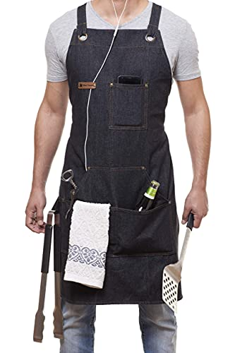 Novelty Denim with Pockets Apron
