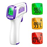 Infrared Thermometer for Adults, Non Contact Forehead Thermometer with Fever Alarm, Accurate Reading and Memory Function, Babies, Children, and The Elderly & Surface of Objects Use
