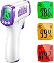 Infrared Thermometer for Adults, Non Contact Forehead Thermometer with Fever Alarm, Accurate Reading and Memory Function, Body Temperature & Surface of Objects Use