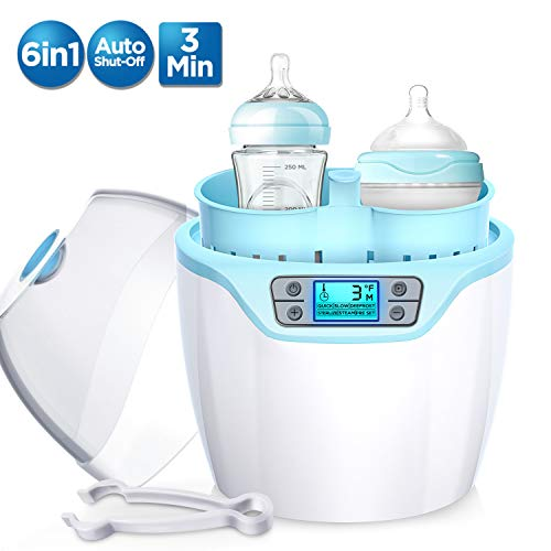 Cheapest Price! Firares Upgrade Baby Bottle Steam Warmer, Multifunctional Fast Breast Milk Bottle Wa...