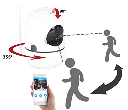 7links Überwachungscamera: WLAN-IP-Überwachungskamera mit Objekt-Tracking und App, Full HD, 360° (Cameras)