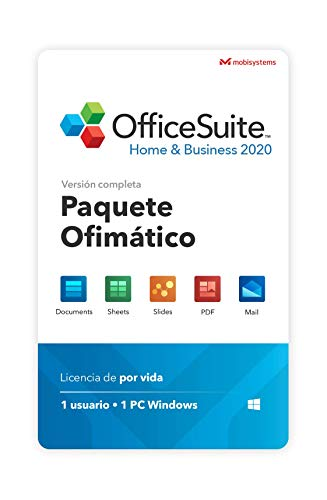 OfficeSuite Home & Business 2020 - licencia completa - Compatible con Microsoft Office Word, Excel, PowerPoint para PC Windows 10 8.1 8 7 (1PC/1Usuario)