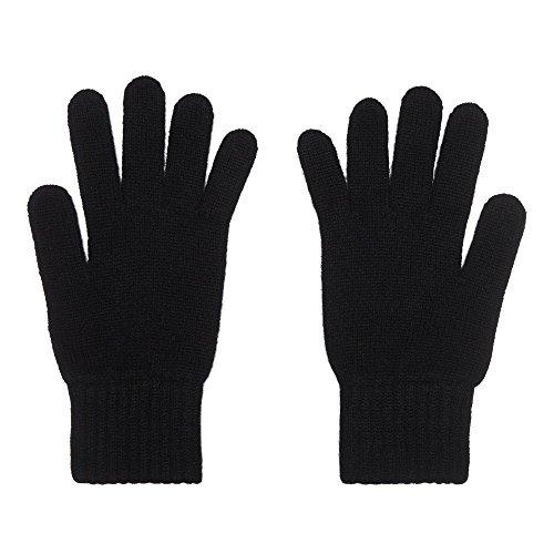 Ladies 100% Cashmere Gloves, Made In Scotland, Black