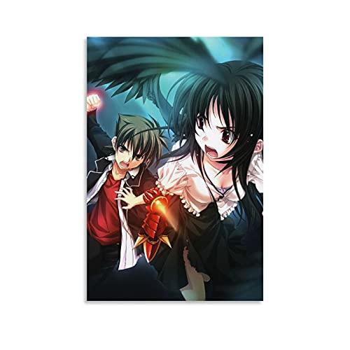 Póster de anime de Japón de la escuela secundaria DxD de Hyoudou Issei Manga Anime Caracteres Impresos en Lienzo Póster Dormitorio Decoración de Pared Cuadros Colgando para Sala de estar 30 x 45 cm