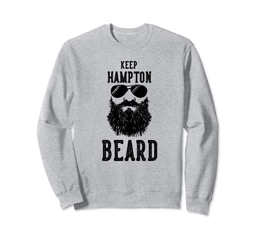 Keep Hampton Virginia Barba Divertido Hipster Retro Sudadera