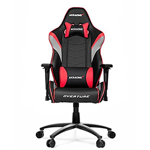 AKRacing Overture - AK-OVERTURE-RD - Silla Gaming, Color Negro/Rojo