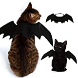 Pet Dog Costume Black Vampire Wings Fancy Dress Costume Outfit Bat Wings for Cats Dogs which Neck Circumference from 24-36cm and Bust from 36-42cm