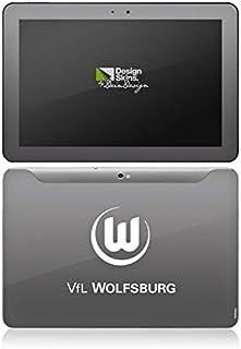Samsung Galaxy Tab 10.1 Case Skin Sticker aus Vinyl-Folie Aufkleber VFL Wolfsburg Fanartikel Wölfe Bundesliga