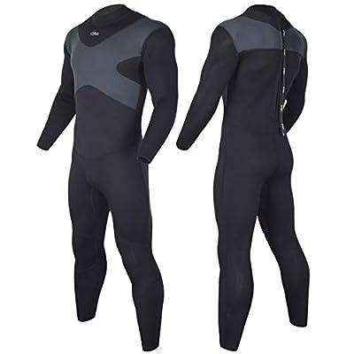 Hevto Wetsuits X Men 3mm Neoprene Full Scuba Diving Suits Surfing Swimming Long Sleeve Keep Warm (X-Men Gray, XXL1)
