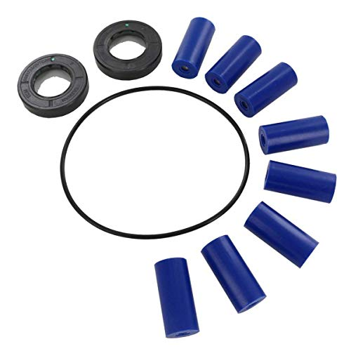 Hypro 3430-0381 Super Roller Repair Kit for Hypro 7560 Series 8-Roller Pump, Includes 8 Super Rollers, 1 O-Ring Gasket and 2 Viton Seals, 12 Ounce