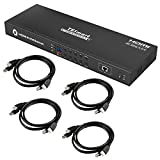 TESmart 8X1 HDMI KVM Switch 8 Port Enterprise Grade Support 4K@60Hz Ultra HD | RS232 | LAN Port | IP Control | Auto Scan | Rackmount [Control up to 8 PCs w/One Video Monitor, Keyboard, Mouse]