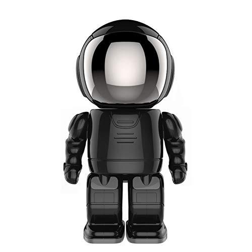 Camaras De Vigilancia Spetu HD 1080P Robot Cámara IP WiFi Wireless P2P Cámaras De Vigilancia De Seguridad Cámaras De Vigilancia Nocturna Visión IR Home Seguridad Robot Baby Monitor Negro