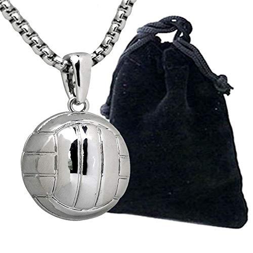 DADATU 3D Volleyball Colgante Collar Hombres Ball Lover Sport Collares Voleibol Equipo Athletic Joyería Acero Inoxidable Cadena De Serpiente