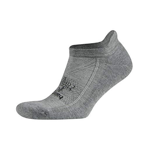 Balega idden Comfort No-Show Chaussettes de course à pied pour homme Rembourrage pour résistance aux chocs Poche talon profonde pour la stabilité Anthracite L