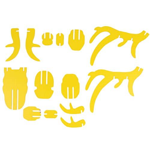 BESPORTBLE Hirschkopf Wanddeko Rentier Kopf 3D Puzzle Tierkopf Hirschgeweih Deko Vintage Geweih Dekofigur rustikal Schmuckhalter DIY Holz Steckpuzzle zum Basteln für Zimmer Deko