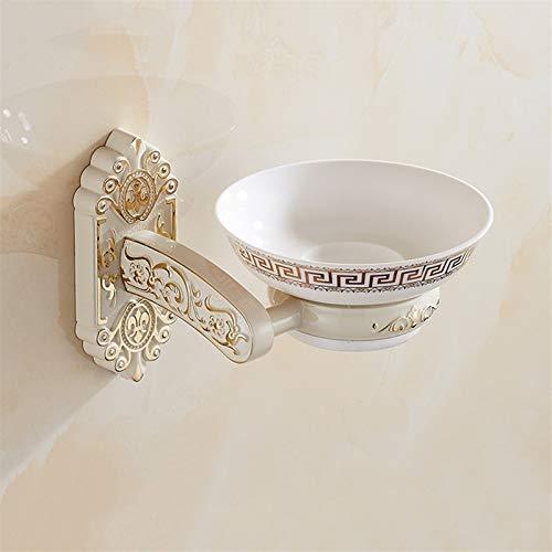 YDSHOLL Tenedor de jabón de jabón de águila de Oro Pintura Blanca 100x125x150mm