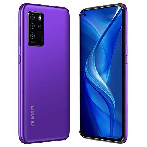Smartphone 4G OUKITEL C21 (2020), 6.4inch FHD+, 4000mAh Batteria Cellulari Offerte, Octa Core Cellulare, Sblocco Viso, 16MP+20MP, 64GB ROM, Dual SIM Telefoni Cellulari (viola)