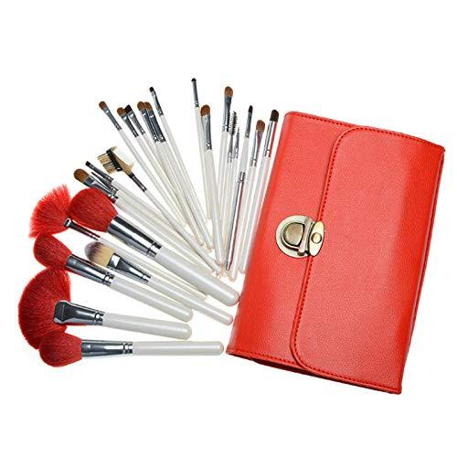 Maquillage Brush Set,Femmes 26 pièces haute qualité fibre cheveux blush professionnel fondation fard à paupières maquillage outils de beauté, blanc