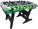 PULLEY -T - Mesa de futbolín, para adultos en interiores y exteriores, gran mesa de fútbol MDF plegable mesa de entretenimiento, tamaño del juego de mesa de fútbol – 1210 mm x 61 mm x 810 mm T