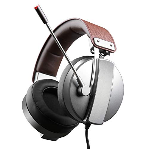 QNSQ Casques d'écoute, Casques de Jeu, Casques Sport, Microphone à réduction de Bruit 7.1 canaux, Son Surround 360 degrés