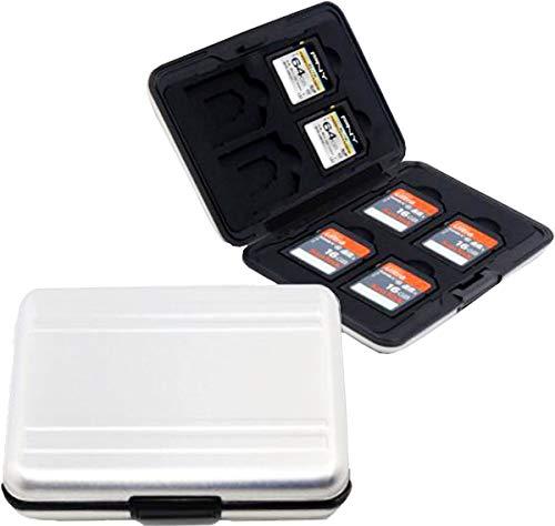 Estuches para Tarjetas Memoria ,Biluer 2PCS Titular De La Tarjeta De Memoria Memory Card Case SD Card Case para Entusiastas De La Oficina y La Fotografía Puede Contener 16 Tarjetas