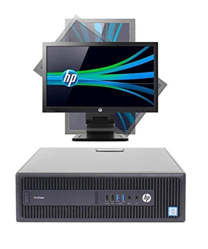 """Postazione Completa ALL in One HP prodesk 600 G2 SFF I5 6400 16GB RAM HDD 500 + SSD 128 Wi-Fi Monitor 23"""" con Web CAM Win 10 (Ricondizionato)"""