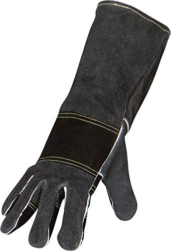 Welding Gloves Large- Fireplace Protective Leather Gear for Men and Women Welders - Heat Resistant for Blacksmith and Firepit Work (Large)