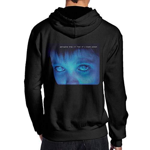 Herren Kapuzenpullover,Herren Kapuzenpullove Porcupine Tree Fear of A Blank Planet Men's Classic Long Sleeve Fleece Sweatshirt Sports Pullover Black