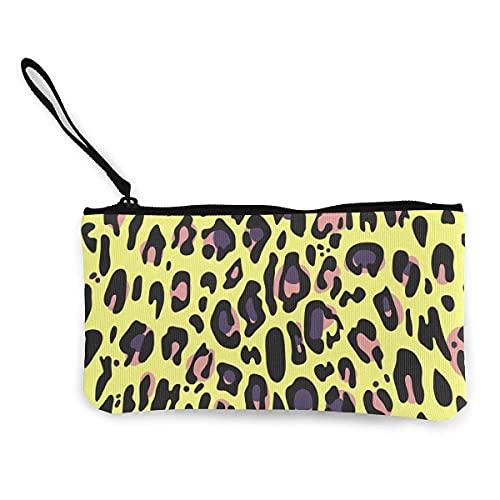 Wallets Women's Coin Purses & Pouches Seamless Toxic Leopard Print Zipper Canvas Clutch Bag Small Items Cosmetics Credit Card Multifunctional Change Cash Bag Zipper Wallets
